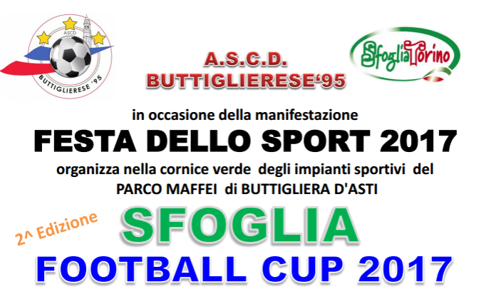 CALENDARI 1° WEEK-END SFOGLIA FOOTBALL CUP 10 – 11 GIUGNO 2017